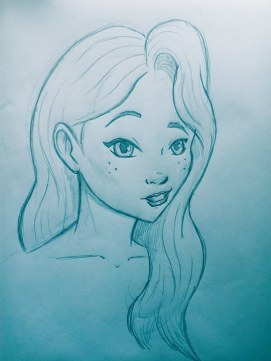 Character for animation. Pencil.