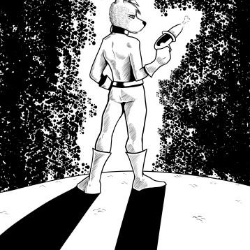 "Illustration for the childrens book series ""Frost, perrito de aventuras"". MangaStudio."