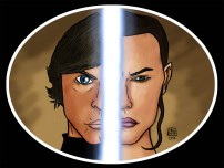 Star Wars fan art. Ink in MangaStudio + Colour in Photoshop