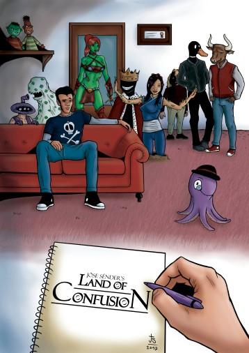 Comic book cover. Mangastudio + Photoshop.