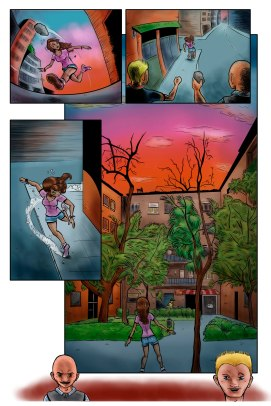 Comic page for an American benefic anthology of comics.