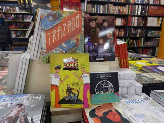 The comic in a store