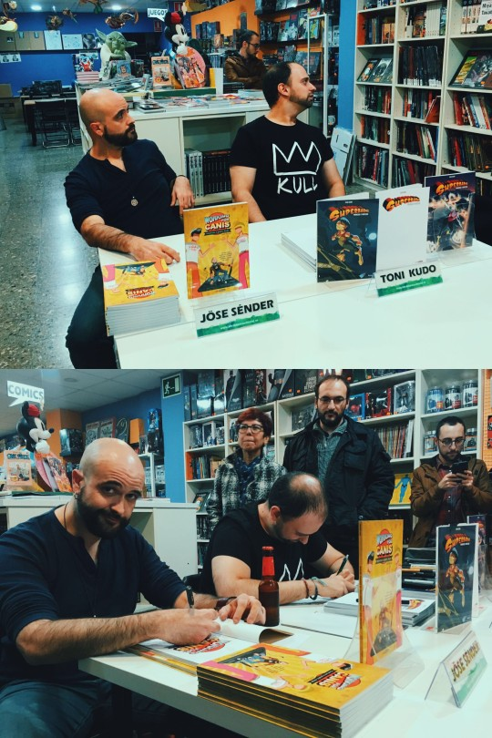 Press conference in Landromina comic store