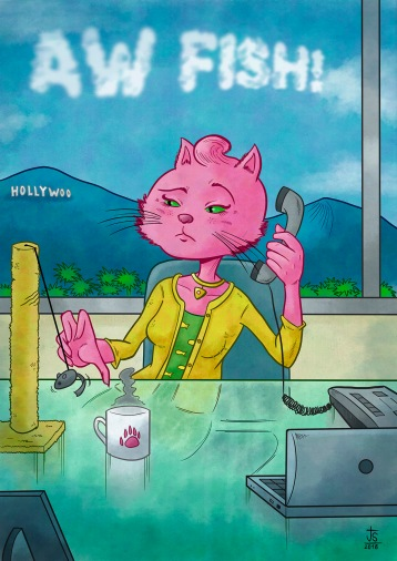 Princess Carolyn from BoJack Horseman fanart.
