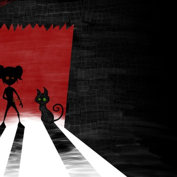 Illustration on Neil Gaiman's Coraline, made for a children's books illustration course I took.