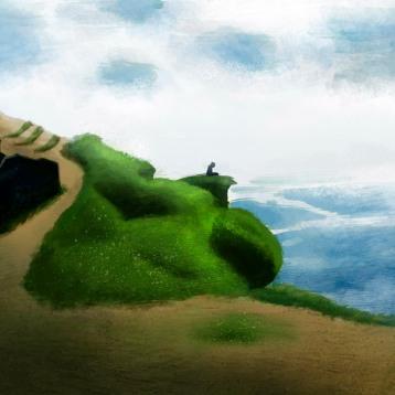 Cliffs of Moher, Ireland. Photoshop brushes.