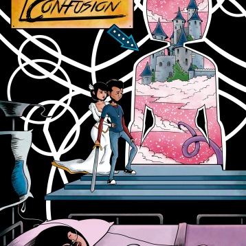 Cover for my graphic novel Land of Confusion.