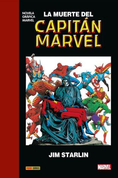 muerte, capitán marvel, novelas graficas, clasicos, clasicas, comic, comics, marvel,