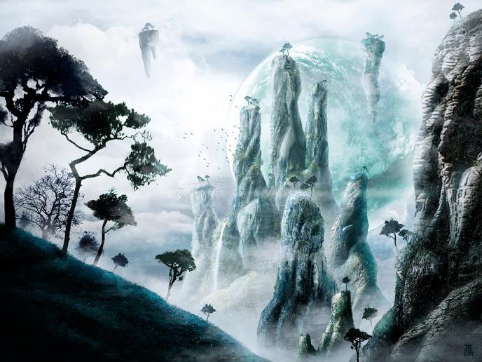Magic Mountain matte painting