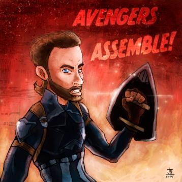 Captain America fan-art, all digital brushes.