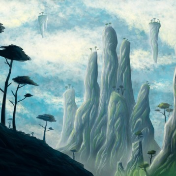 Sketch in digital brushes for a Matte Painting.