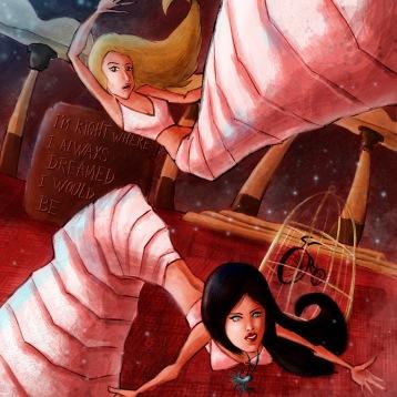 Veruca Salt's Shutterbug. Digital illustration, all in Photoshop.