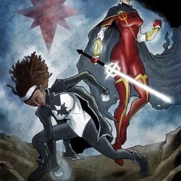 Captain Marvel 1 and 2 fan art. Photoshop brushes.