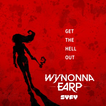 Poster for a design contest of the TV show Wynonna Earp.