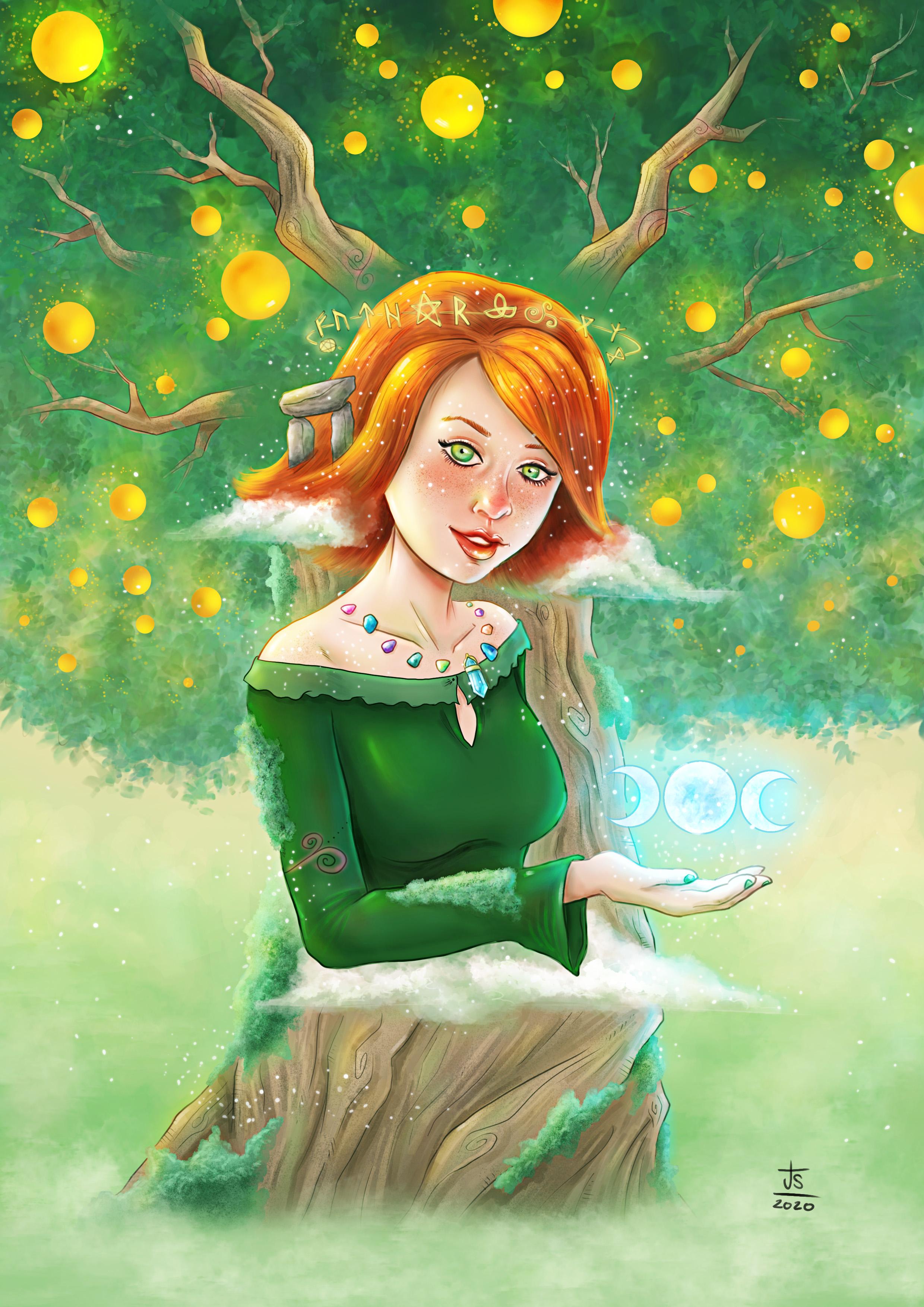 willow, rosenberg, alyson hannigan, art, digital, illustration, fanart, fantasy, jose sender, buffy, btvs,
